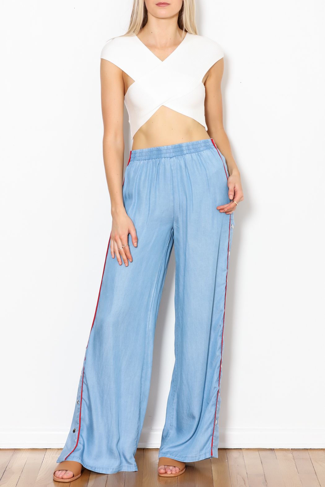 Signature 8 Side Button Pants - Side Cropped Image