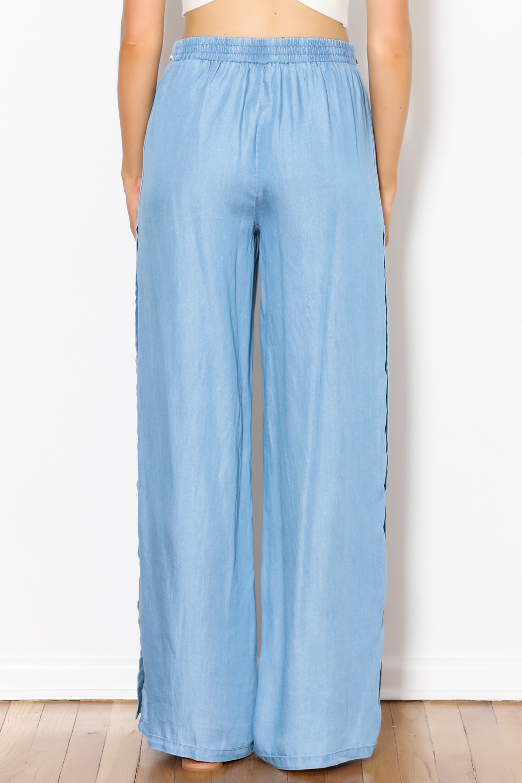 Signature 8 Side Button Pants - Back Cropped Image