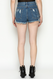 Signature 8 Star Patch Denim Shorts - Back cropped