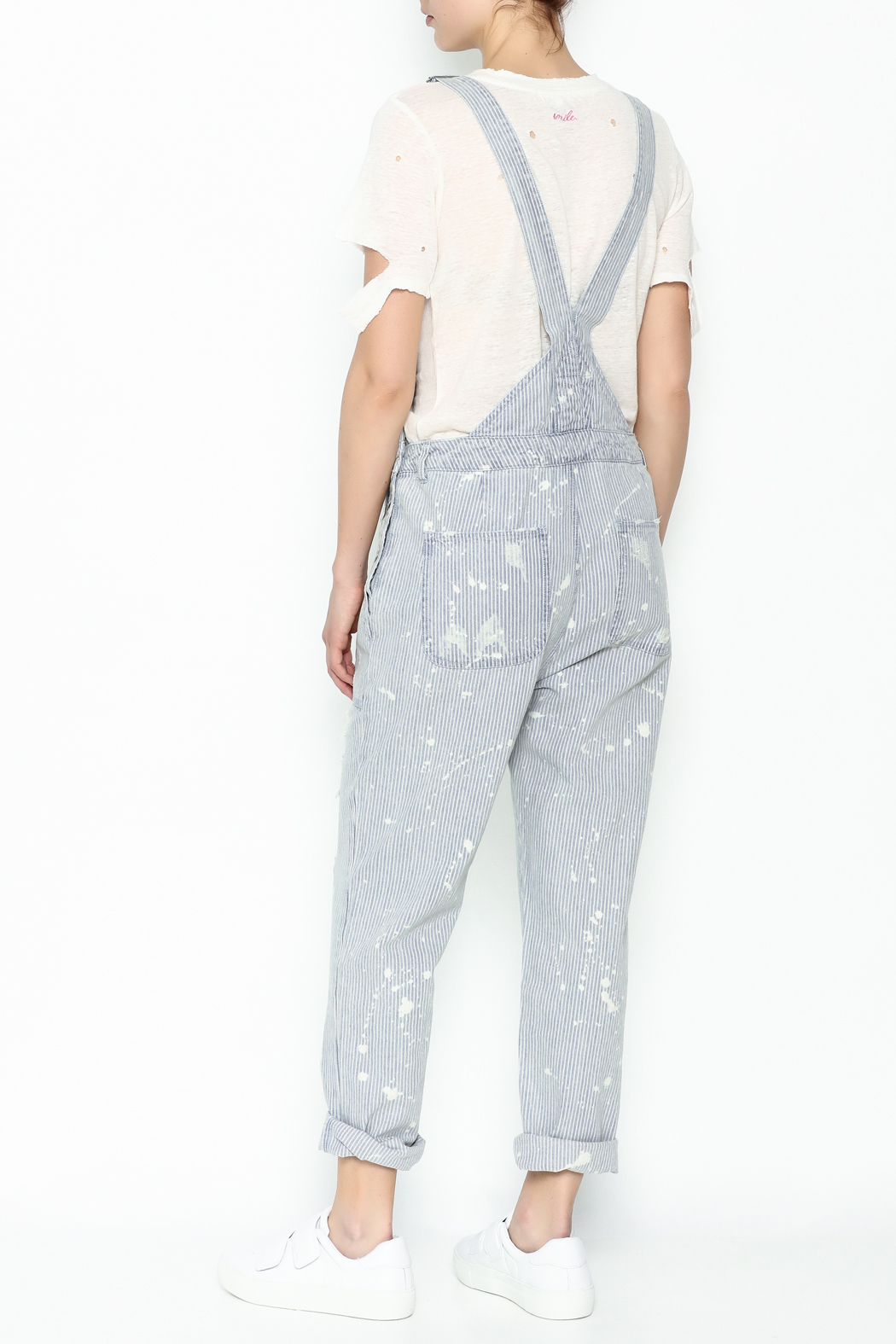 Signature 8 Stripe Overall - Back Cropped Image