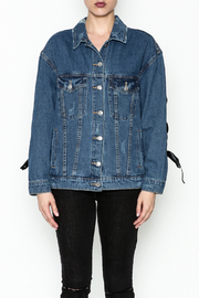 Signature 8 Tie Sleeve Denim Jacket - Front full body