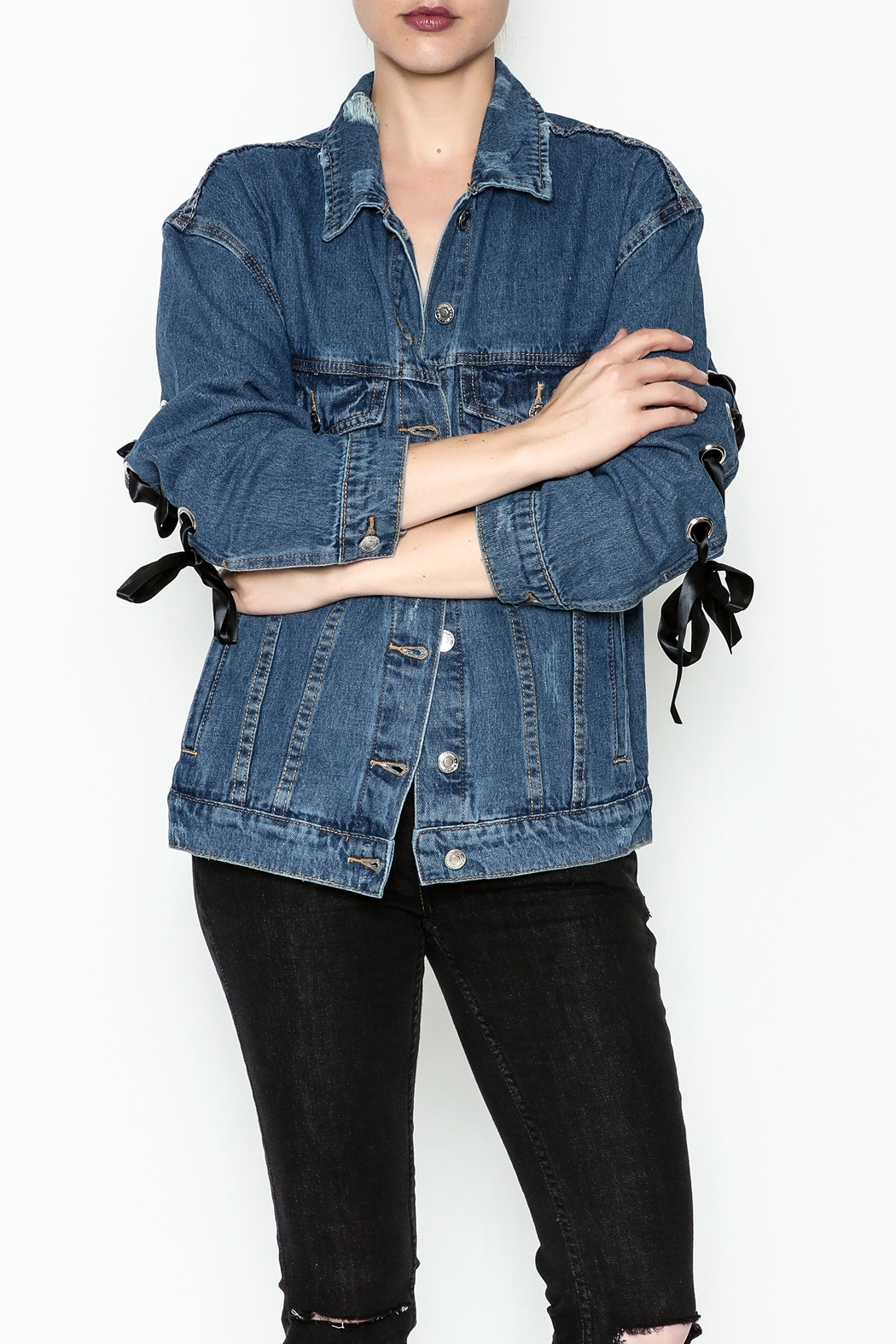 Signature 8 Tie Sleeve Denim Jacket From New York By Dor L Dor