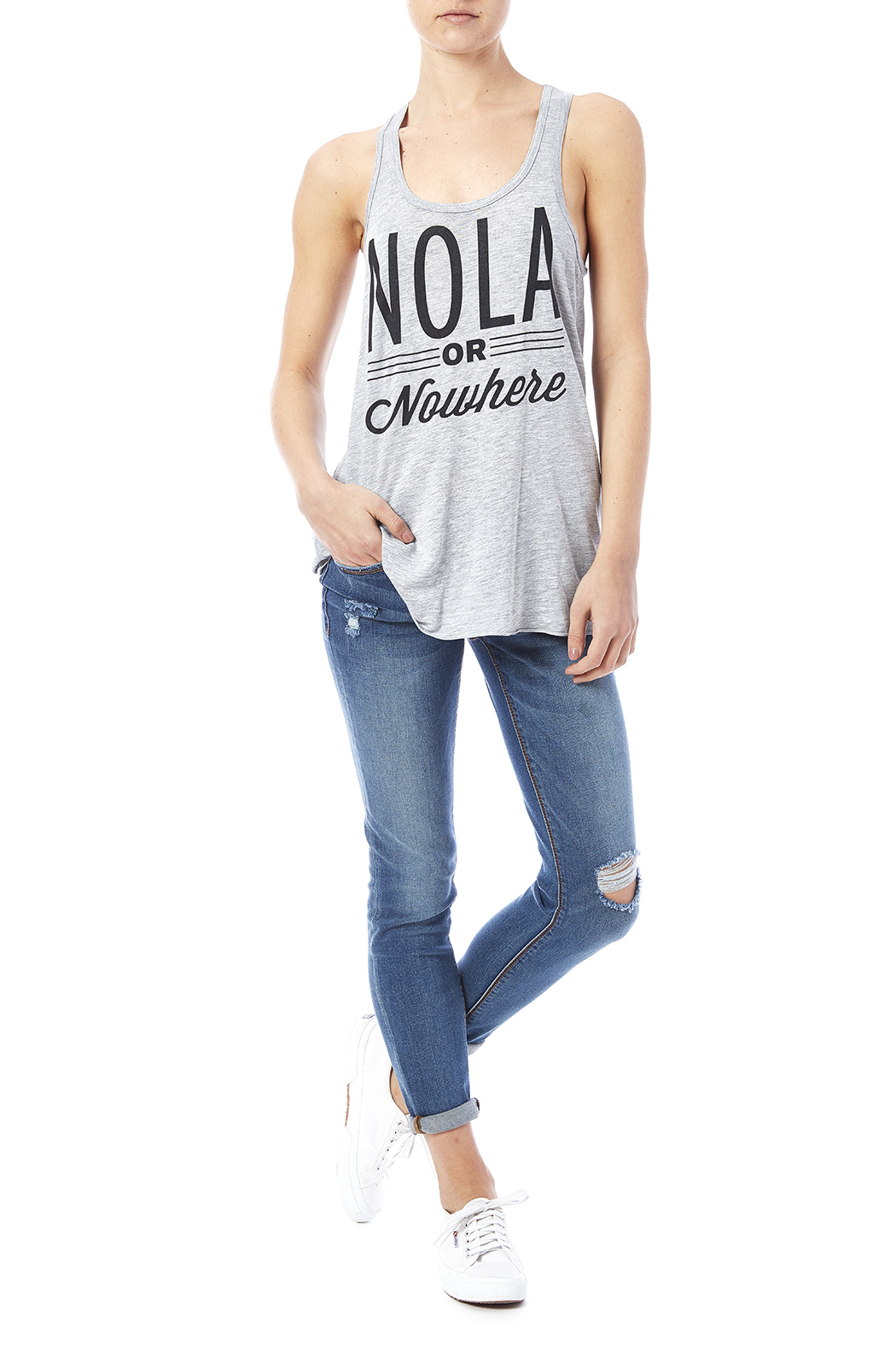 Blank Bella + Canvas Nola Or Nowhere Tank - Front Full Image