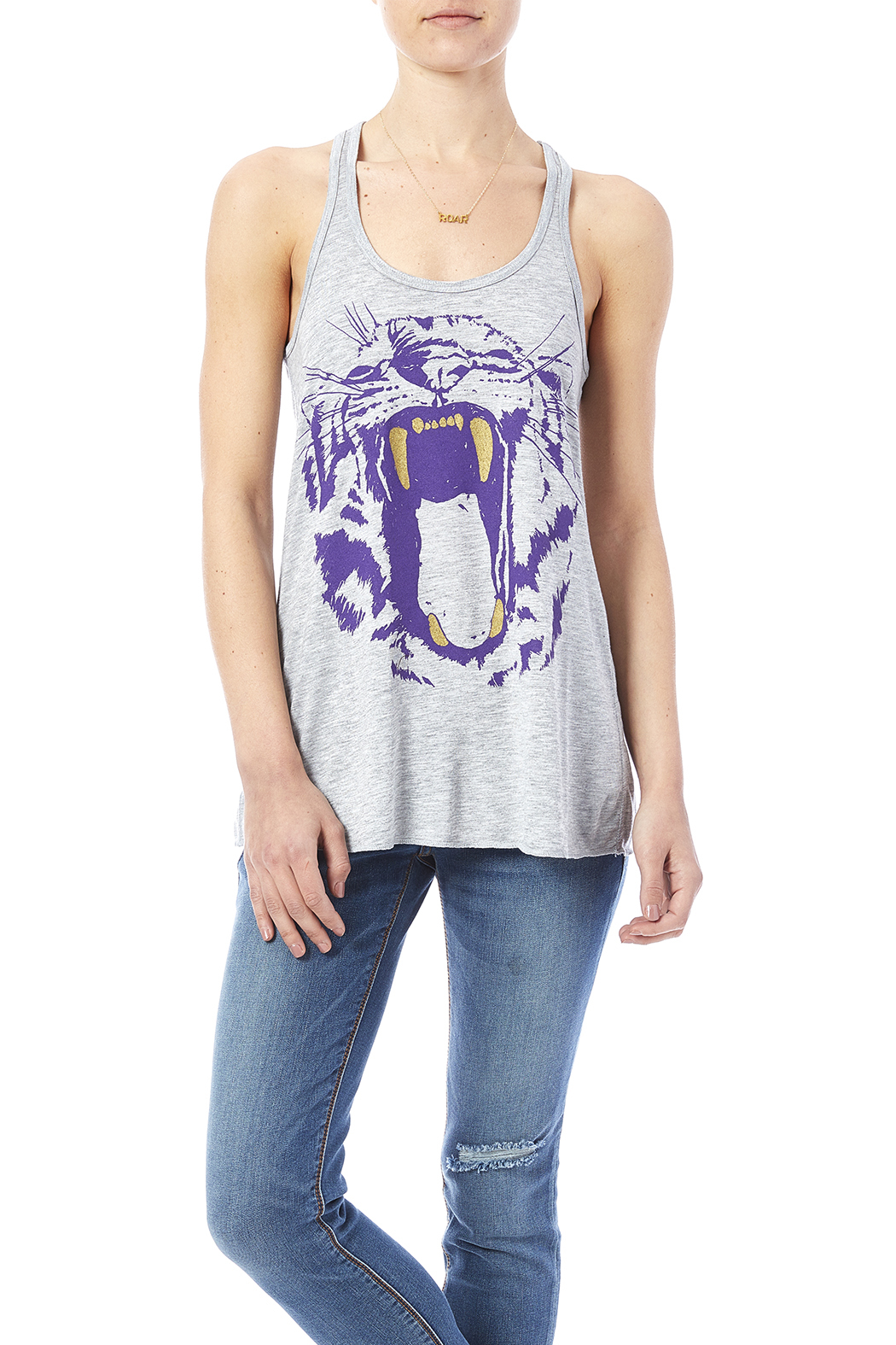 Blank Bella + Canvas Tiger's Roar Tank - Front Cropped Image