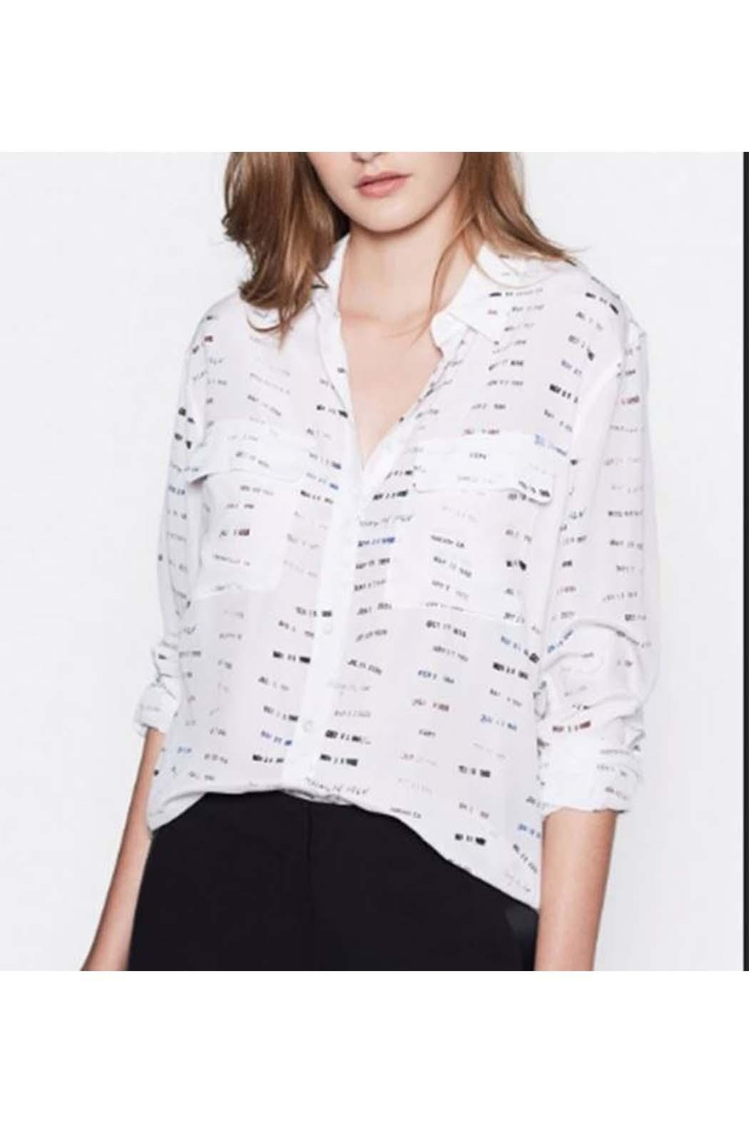 Equipment Signature Blouse - Front Cropped Image