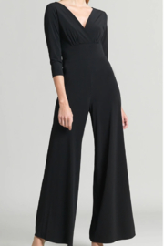 Clara Sunwoo Signature Soft Knit V-Neck Jumpsuit with Sleeves - Front cropped