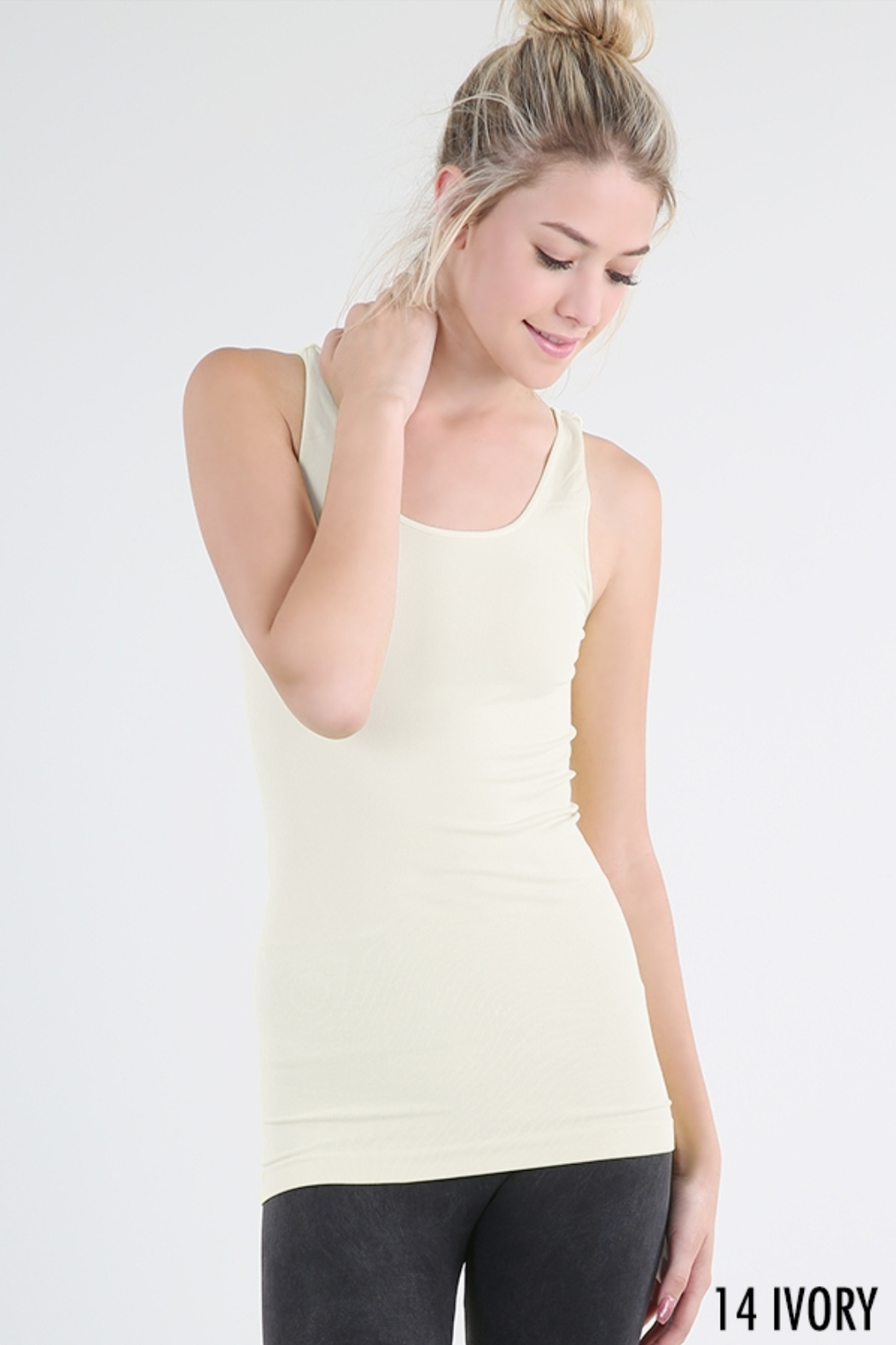 Nikibiki Signature Wide Strap Tank, Multiple Colors - Front Cropped Image