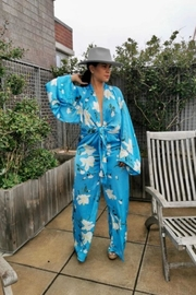 Signature 8 Aqua Blue Jumpsuit - Front full body