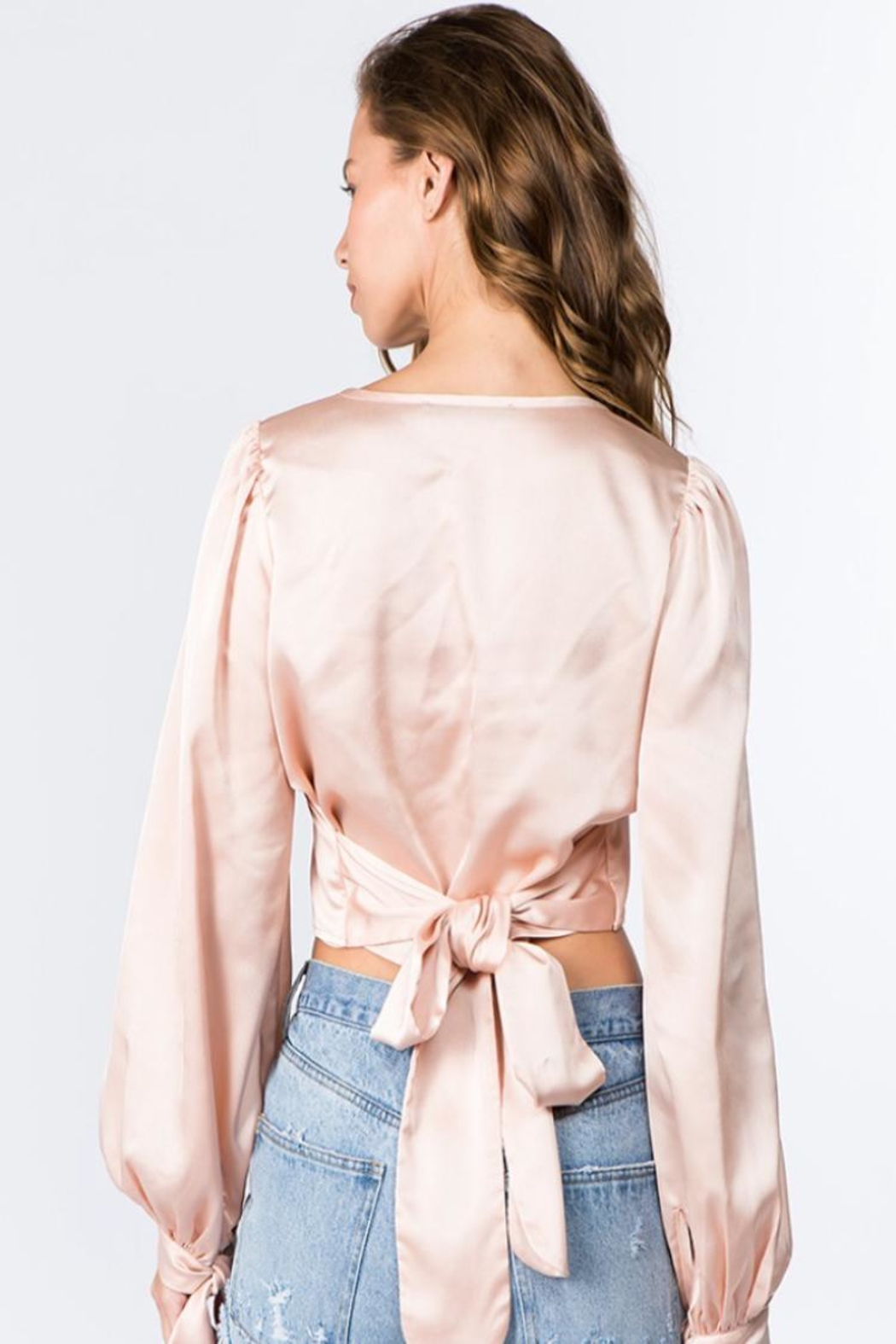 Signature 8 Balloon Sleeve Top - Back Cropped Image