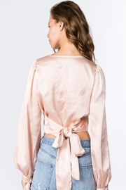 Signature 8 Balloon Sleeve Top - Back cropped