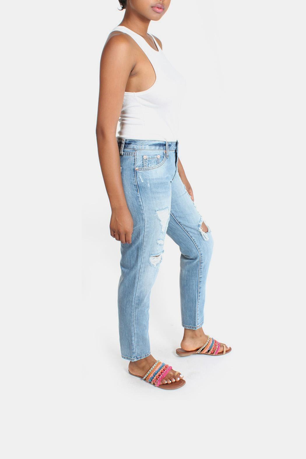 Signature 8 Barely Destroyed Boyfriend-Jeans - Back Cropped Image