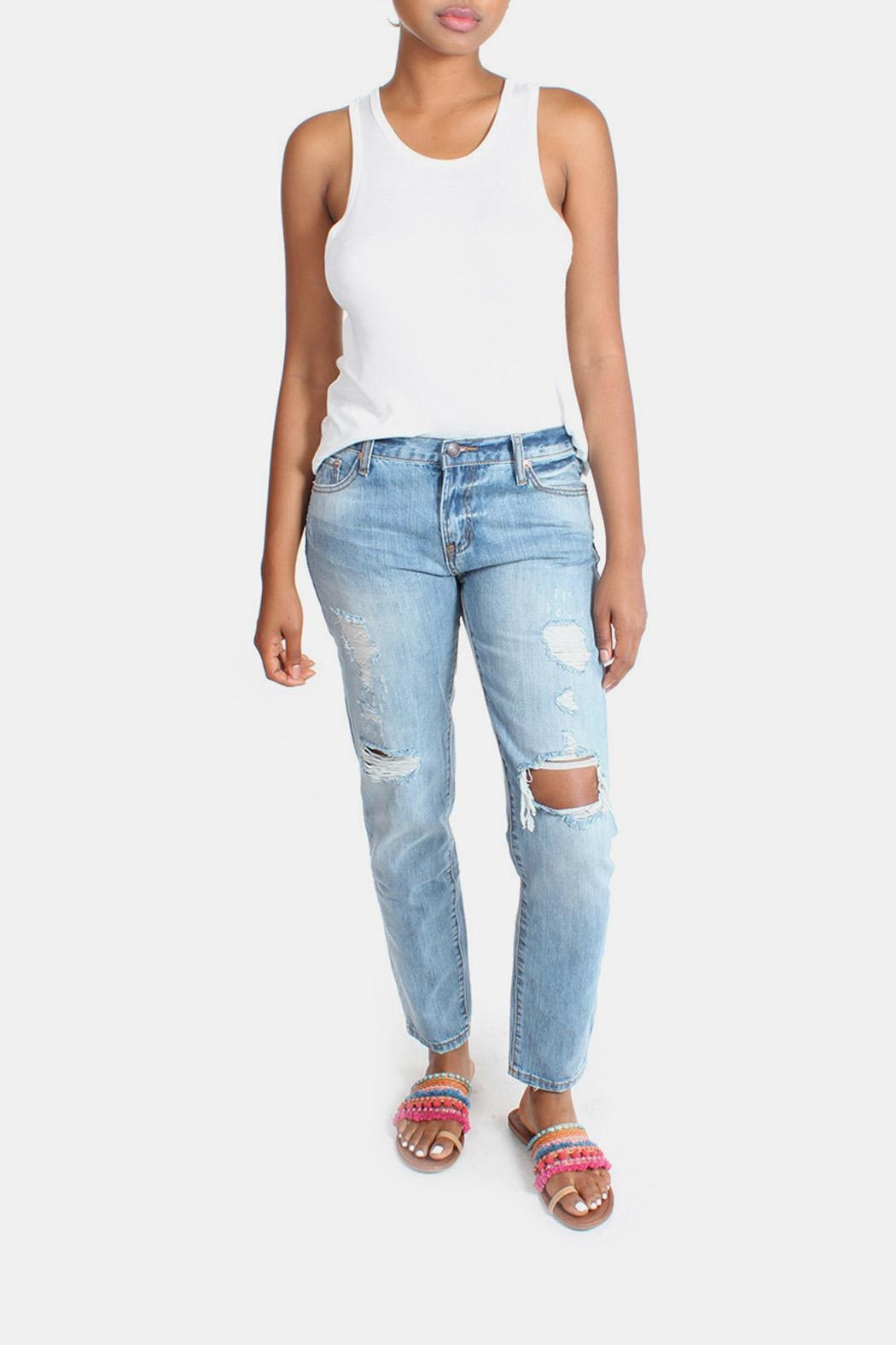 Signature 8 Barely Destroyed Boyfriend-Jeans - Main Image