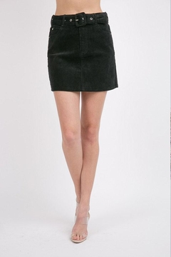 Shoptiques Product: Belted Corduroy Skirt