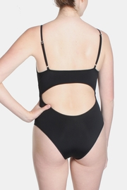 Signature 8 Black Cross Straps Swimsuit - Back cropped