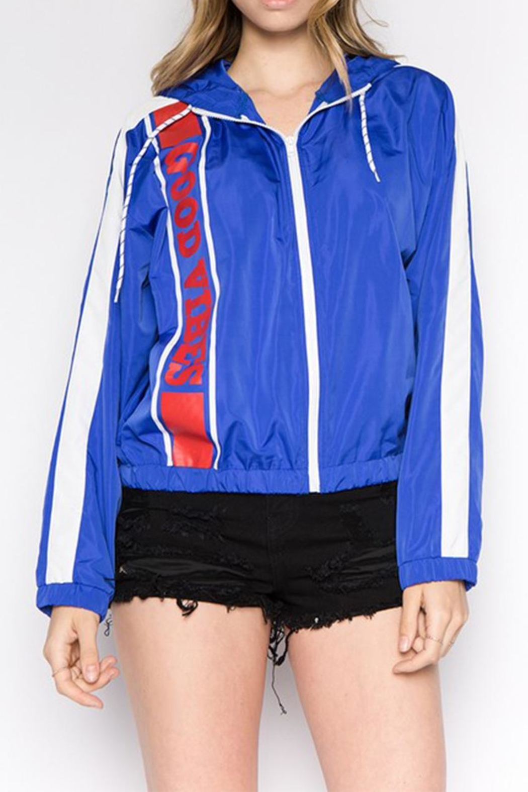 Signature 8 Blue Windbreaker - Front Cropped Image