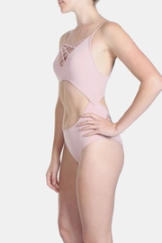 Signature 8 Blush Cross Straps Swimsuit - Front full body