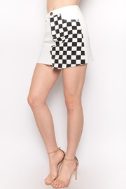 Signature 8 Check Denim Skirt - Product Mini Image