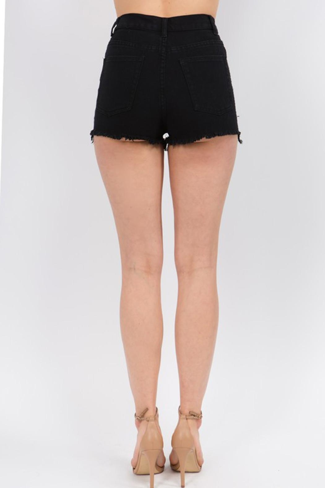 Signature 8 Check Stripe Shorts - Side Cropped Image