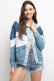 Signature 8 Color-Block Denim Jacket - Side cropped