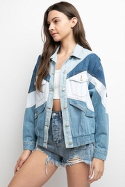 Signature 8 Color-Block Denim Jacket - Front cropped