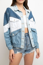 Signature 8 Color-Block Denim Jacket - Front full body