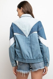 Signature 8 Color-Block Denim Jacket - Back cropped