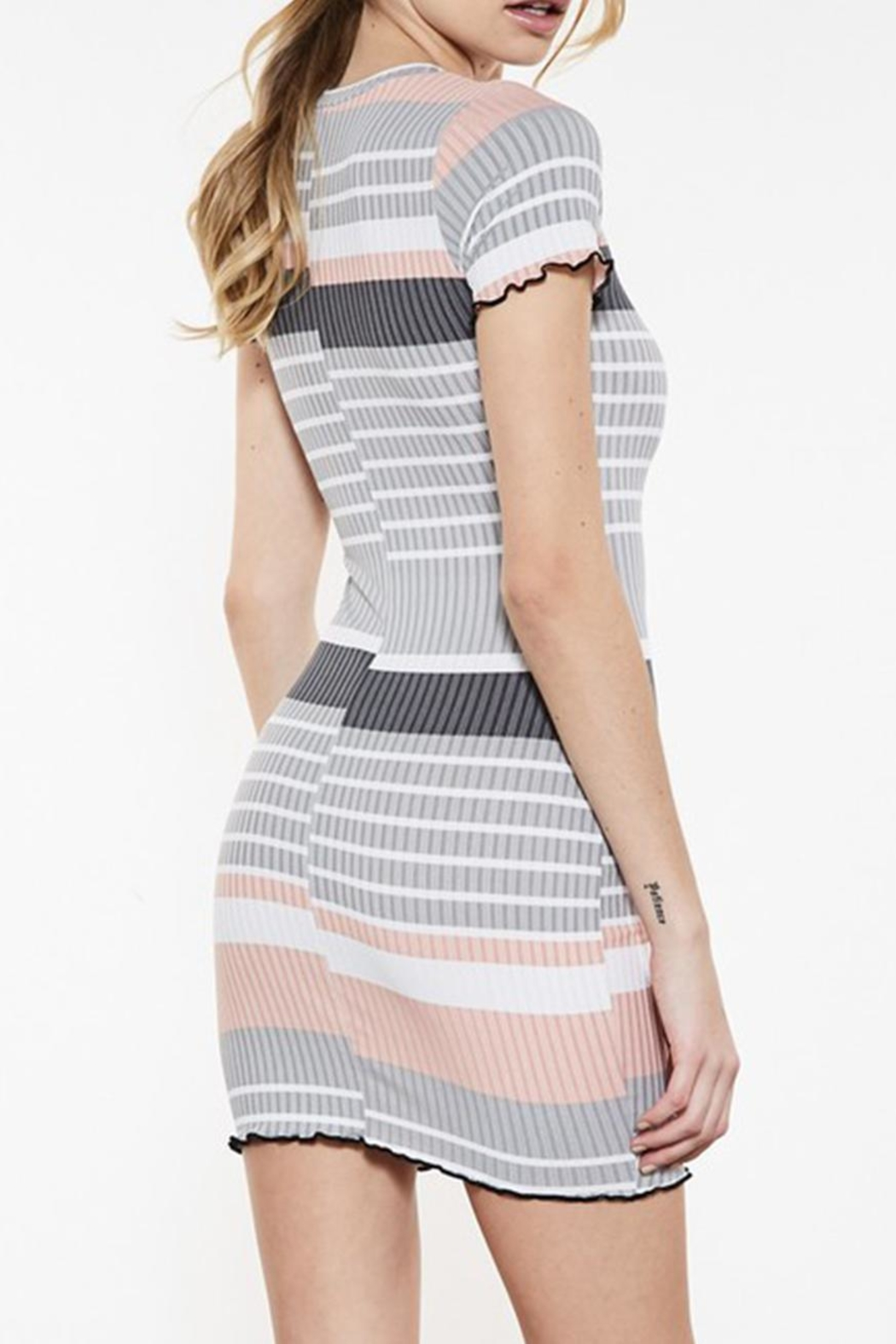 Signature 8 Colored Stripe Dress - Side Cropped Image