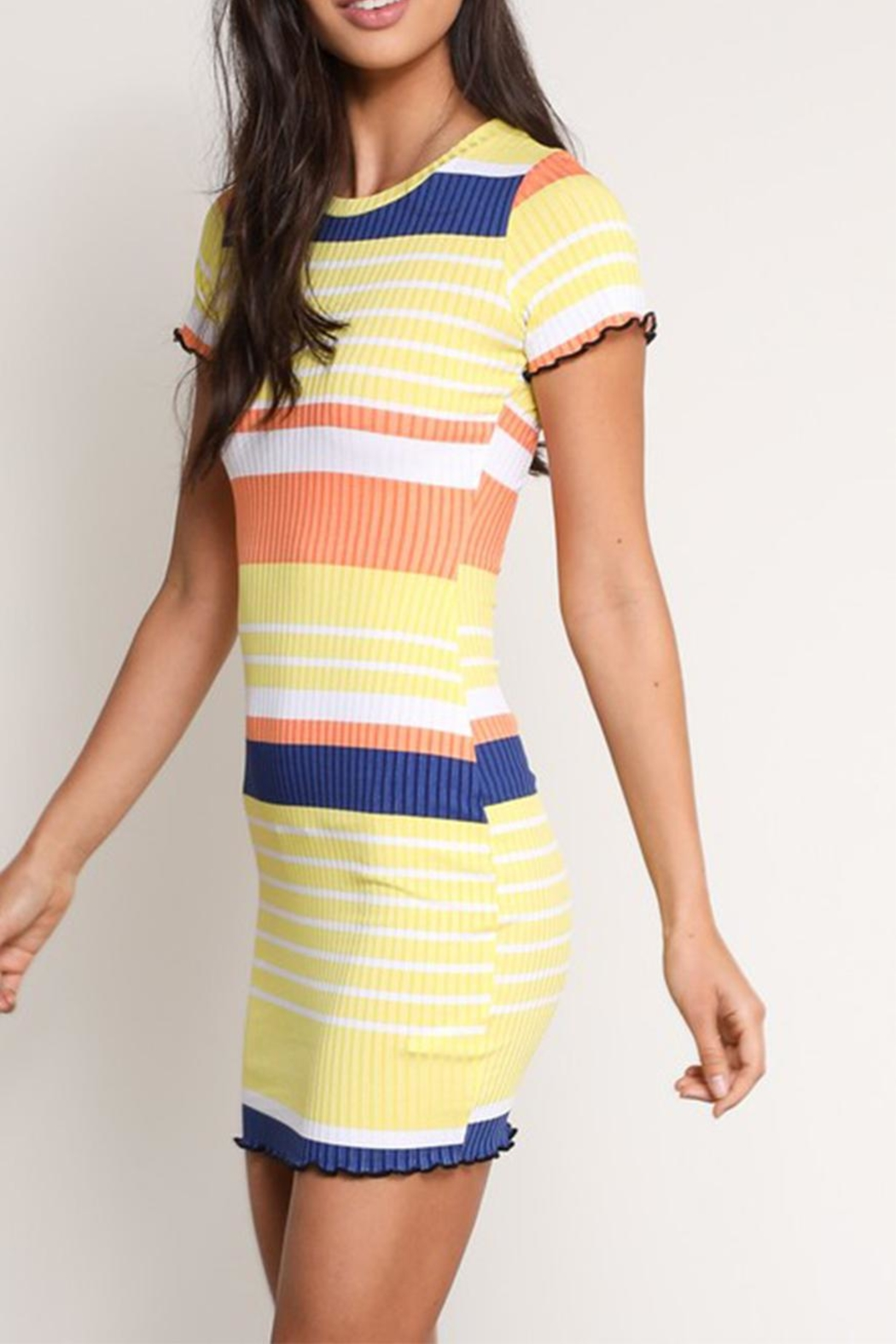Signature 8 Colored Stripe Dress - Front Full Image