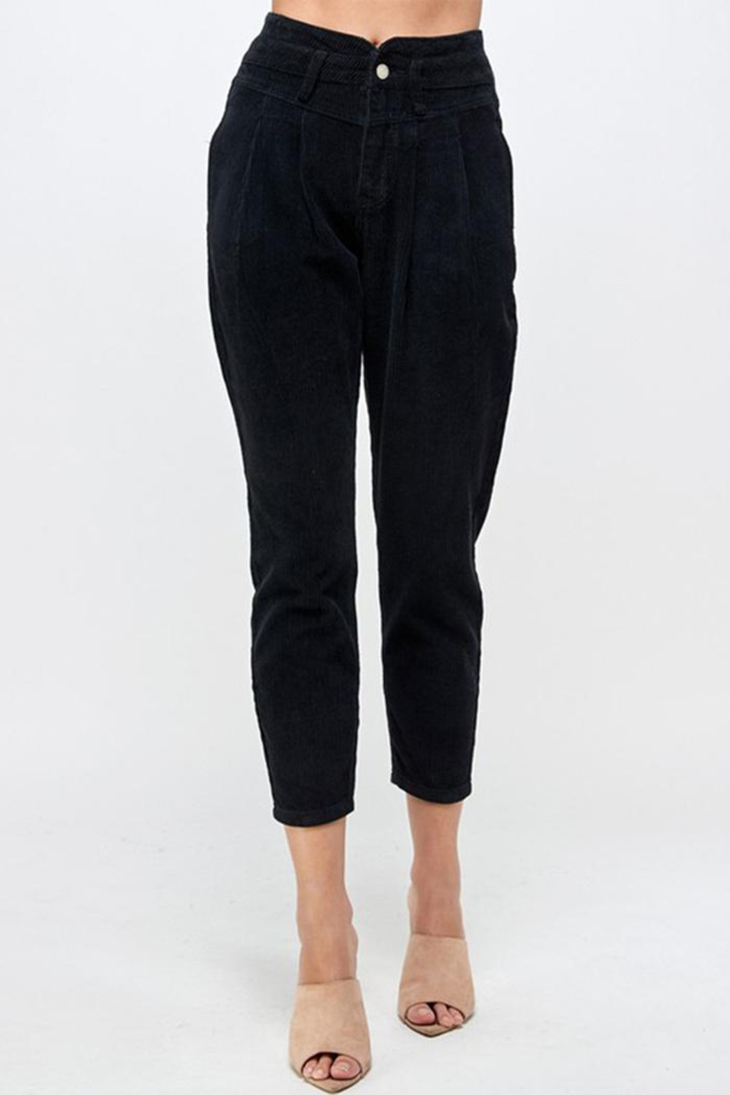 Signature 8 Corduroy Slouchy Pants - Front Full Image