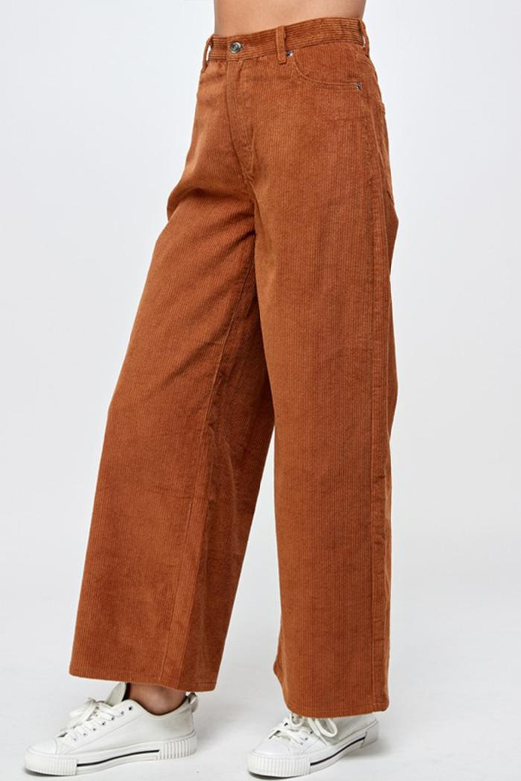 Signature 8 Corduroy Wide-Leg Pants - Front Full Image