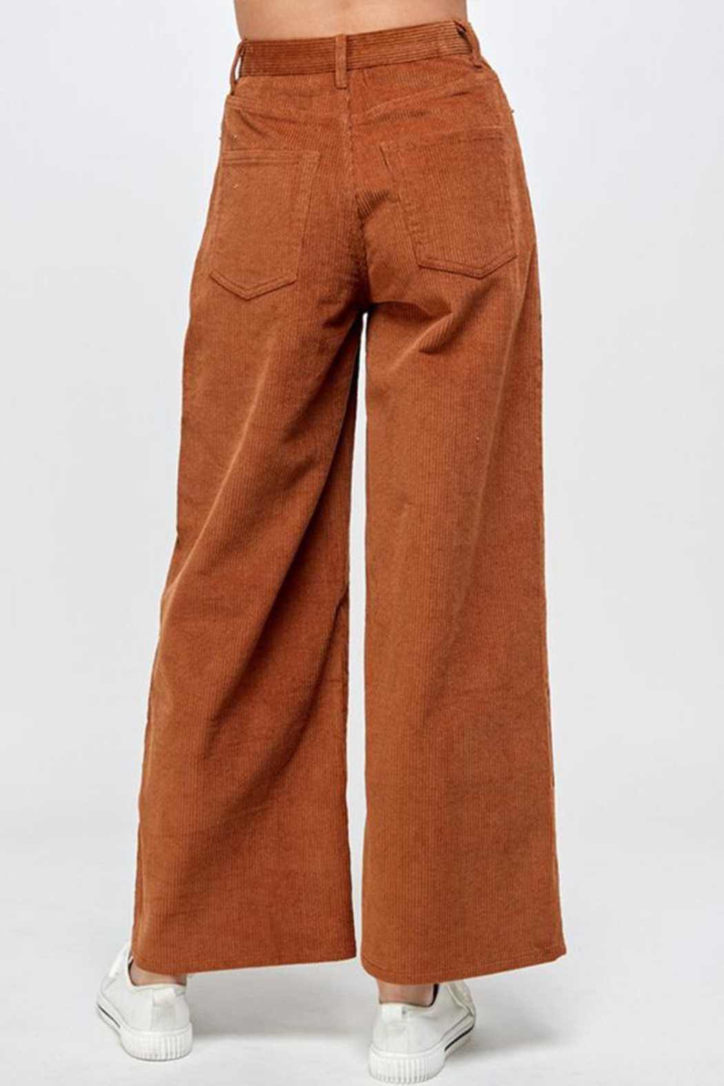 Signature 8 Corduroy Wide-Leg Pants - Back Cropped Image