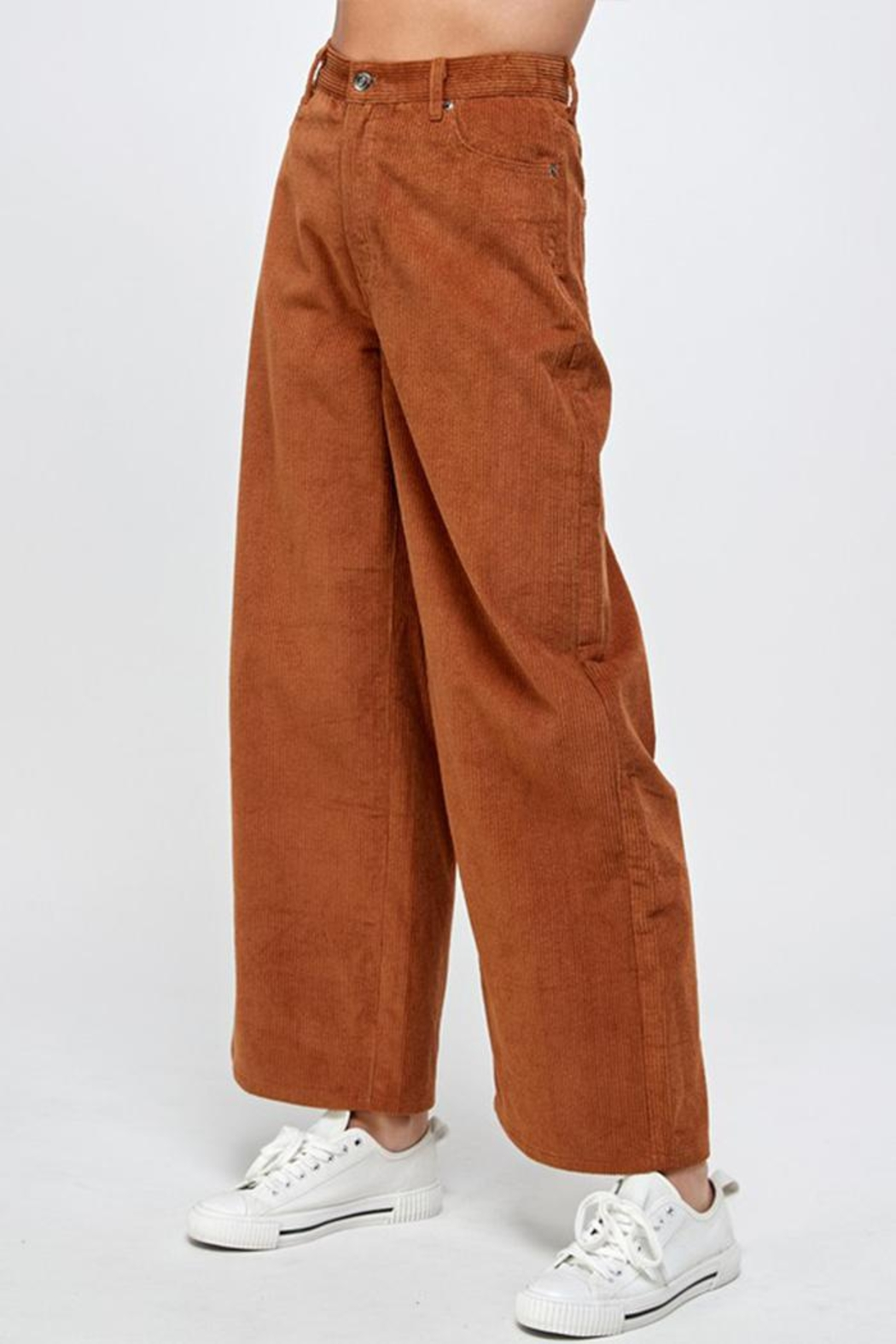 Signature 8 Corduroy Wide-Leg Pants - Side Cropped Image