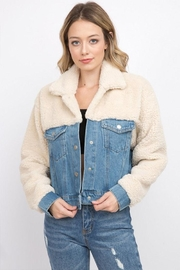 Signature 8 Denim Teddy Jacket - Front cropped
