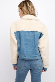 Signature 8 Denim Teddy Jacket - Side cropped