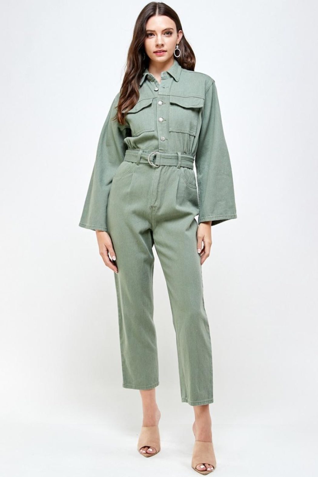 Signature 8 Denim Utility Jumpsuit - Main Image