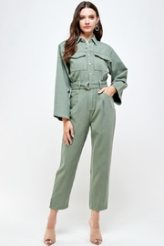 Signature 8 Denim Utility Jumpsuit - Front full body