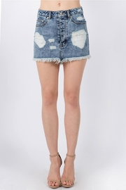 Signature 8 Destroyed Mini Skirt - Front cropped