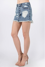 Signature 8 Destroyed Mini Skirt - Front full body