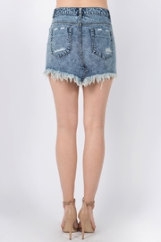 Signature 8 Destroyed Mini Skirt - Side cropped