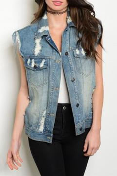 Shoptiques Product: Distressed Boyfriend Vest