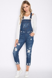 Signature 8 Distressed Denim Overalls - Front cropped