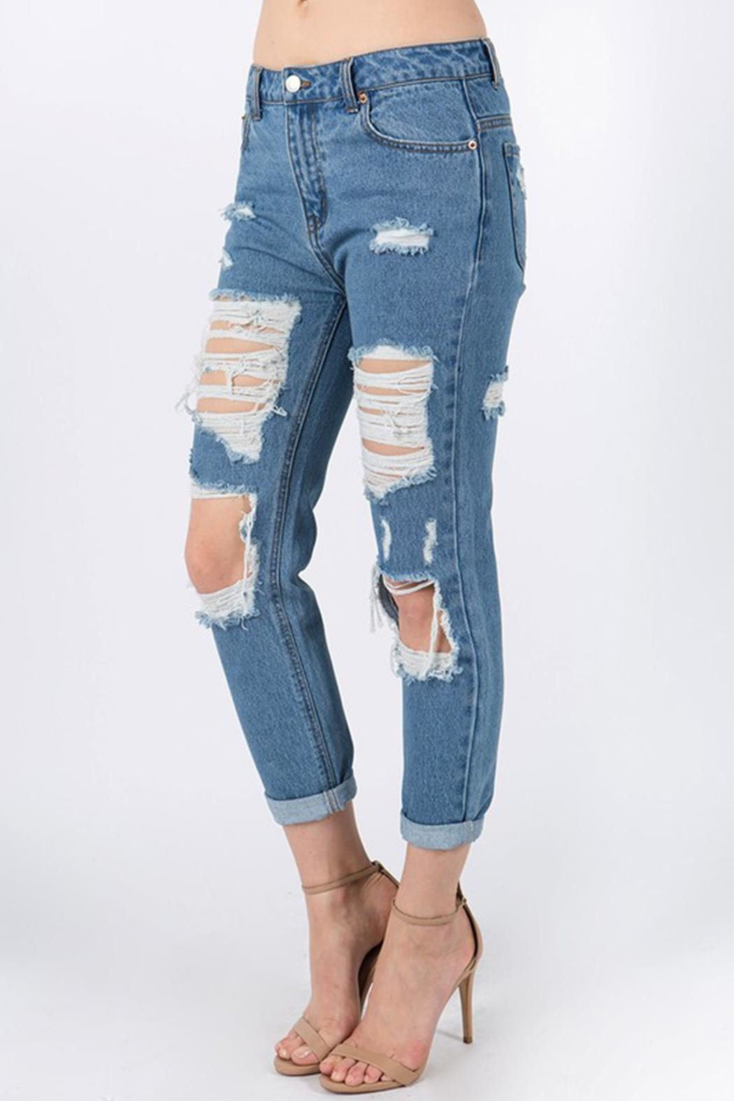 Signature 8 Distressed Jeans - Front Full Image