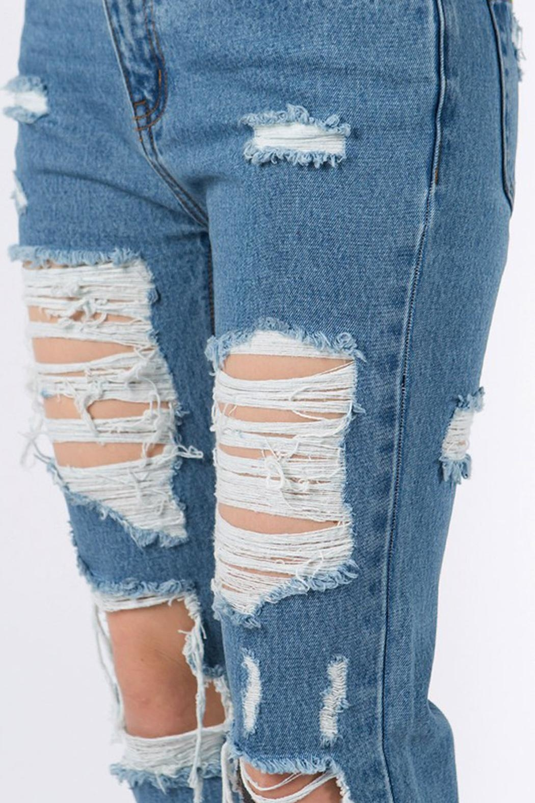 Signature 8 Distressed Jeans - Back Cropped Image