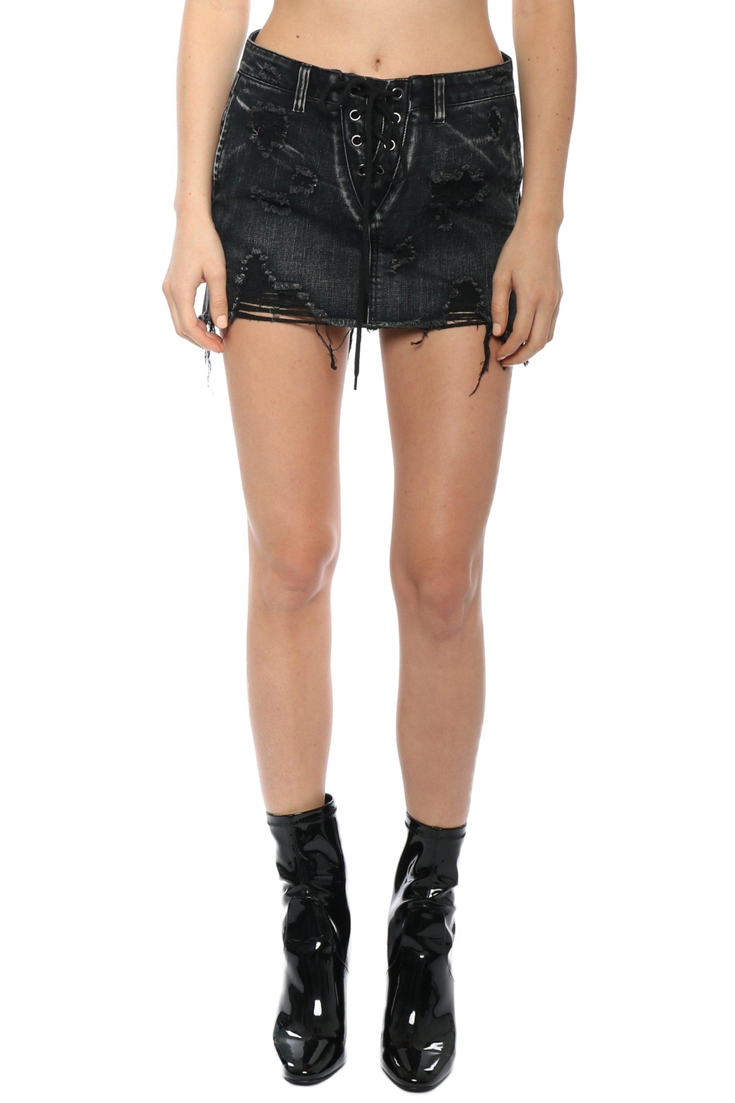 Signature 8 Distressed Lace-Up Skirt - Main Image