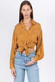 Signature 8 Dot Balloon-Sleeve Top - Front cropped