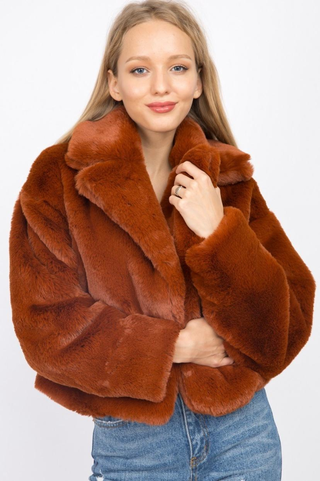 Signature 8 Faux Fur Jacket - Front Cropped Image