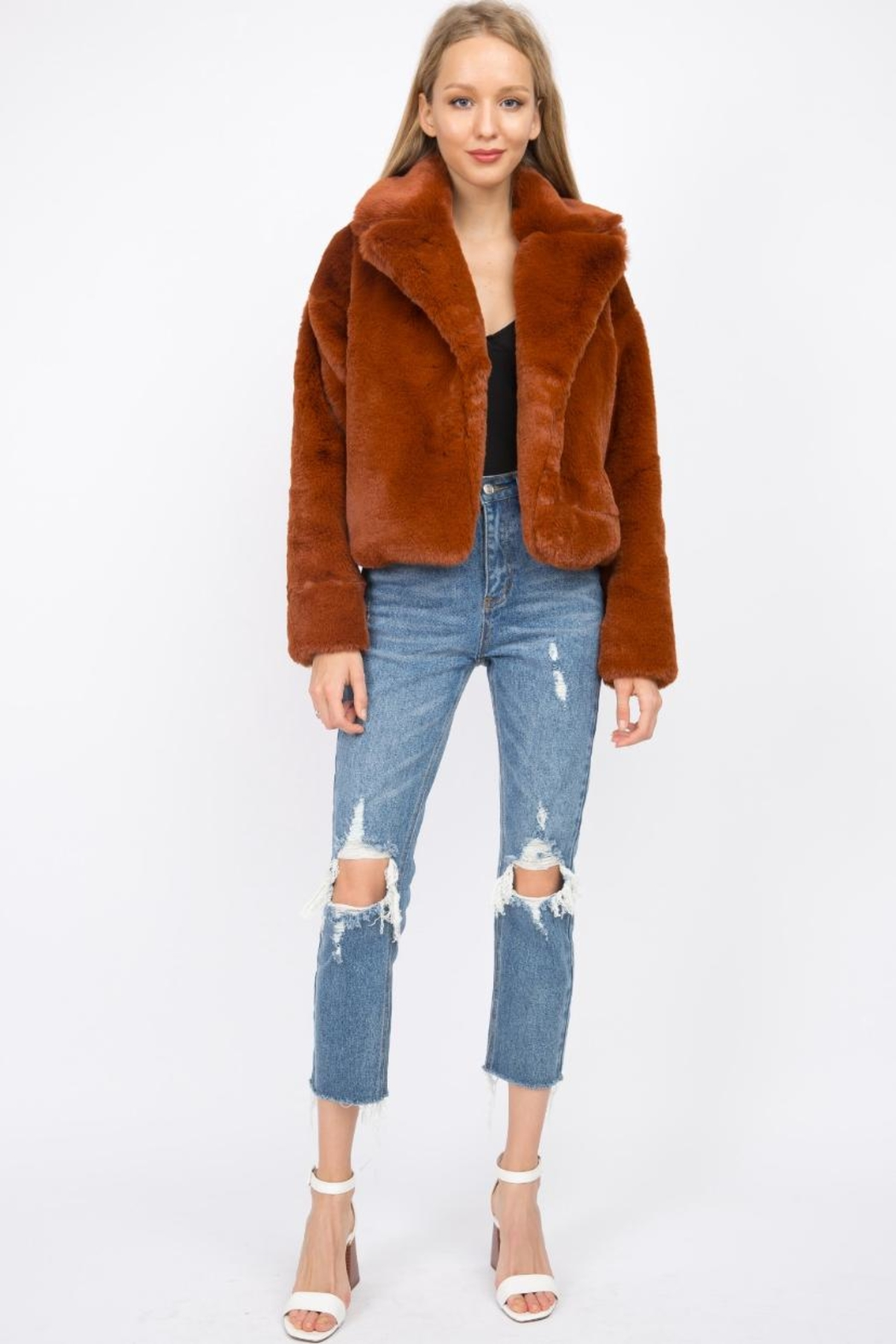 Signature 8 Faux Fur Jacket - Front Full Image