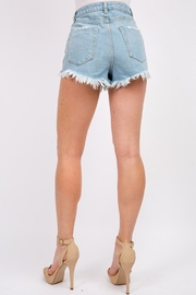 Signature 8 Frayed Denim Shorts - Side cropped