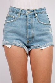 Signature 8 Frayed Denim Shorts - Front cropped