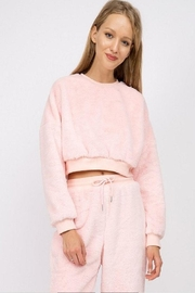 Signature 8 Fur Crop Pullover - Front cropped